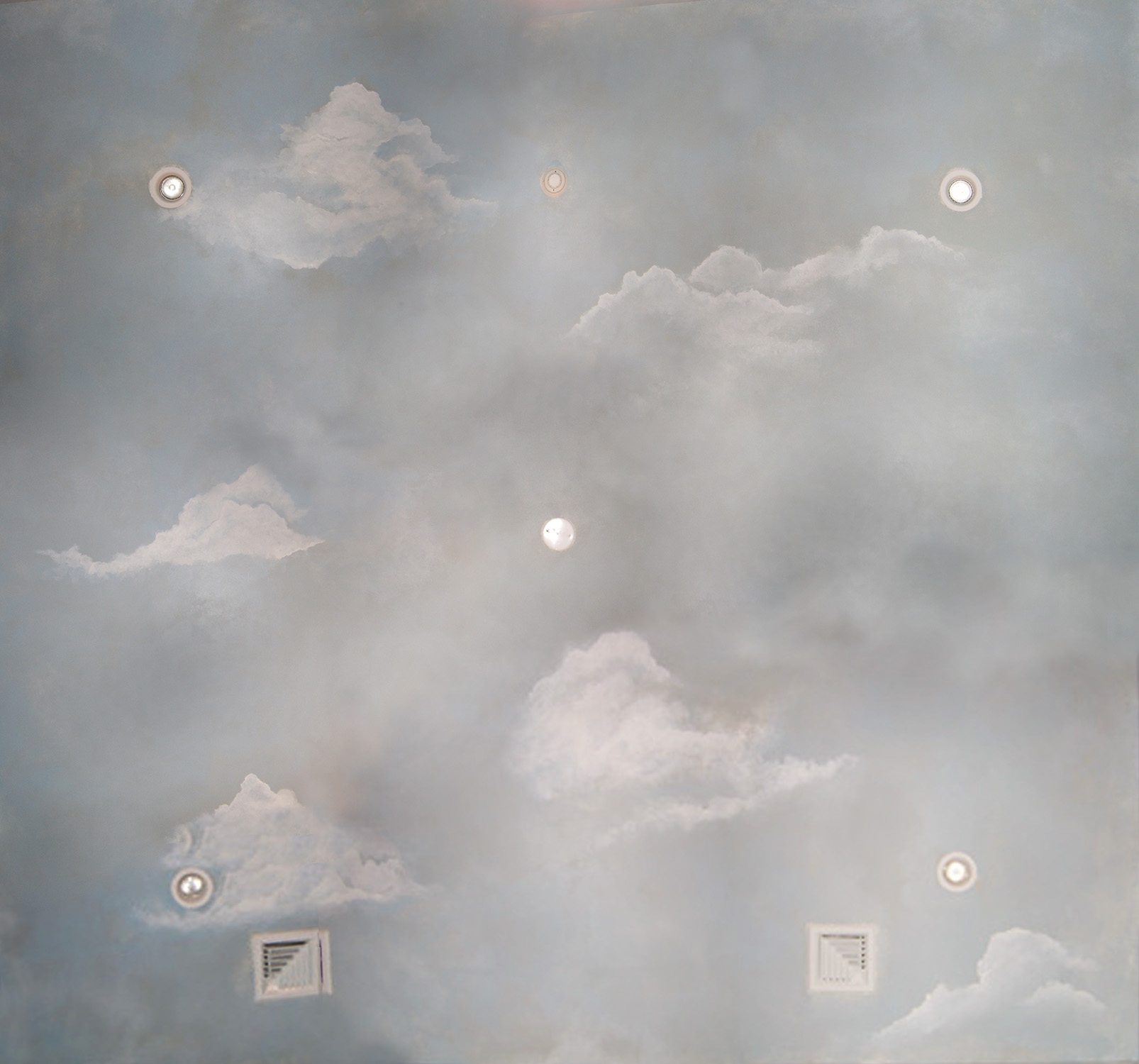 Hand Painted Clouds On Ceiling Of Baby S Room 15 X 20